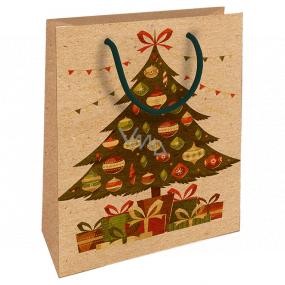 Nekupto Darčeková Kraftová taška 25 x 8 x 19 cm Vianočný stromček 590 WKHM