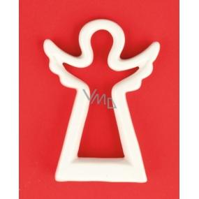 Anjel keramický figúrka silueta 12 cm