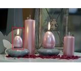 Lima Pastel svíčka metal světle růžová vajíčko 40 x 60 mm 1 kus