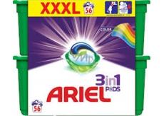Ariel 3v1 Color gelové kapsle na praní prádla 56 kusů