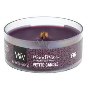 Woodwick Fig - Fík vonná sviečka s dreveným knôtom petite 31 g