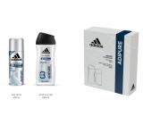 Adidas adiPURE antiperspirant deodorant sprej pre mužov 150 ml + sprchový gél 250 ml, kozmetická sada