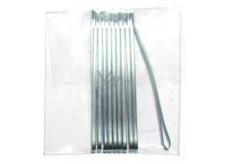 Duko Vlasové spony nikel-plochá 6 cm 10 kusov
