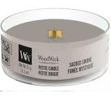 Woodwick Sacred Smoke - Mystický dym vonná sviečka s dreveným knôtom petite 31 g