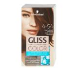 Schwarzkopf Gliss Color farba na vlasy 4-54 Tmavo medený mahagón 2 x 60 ml