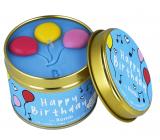 Bomb Cosmetics Všetko najlepšie - Happy Birthday Vonná prírodné, ručne vyrobená sviečka v plechovej dóze horí až 35 hodín
