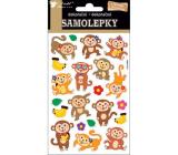 Samolepky opičky s pohyblivými očami 19 x 10 cm
