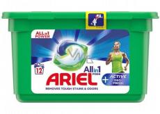Ariel All in 1 Pods Active Deo-Fresh gélové kapsule na pranie bielizne 12 kusov