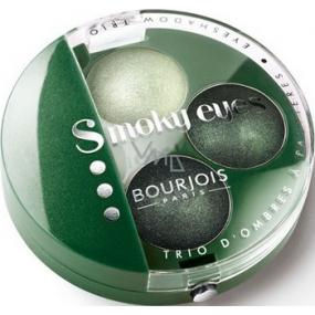 Bourjois Trio Smoky Eyes oční stíny 08 Vert Trendy 4,5 g