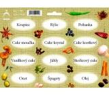 Arch Samolepky na kořenky Juta barvotisk Krupice - doplnění základu kuchyně (rýže, cukry,...) 0515