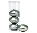 Sviečka plávajúce metal strieborná v tubuse 50 x 120 mm 4 kusy