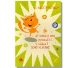 Albi Hracie prianie do obálky K narodeninám Ja mám rada boogie Věra Špinarová 14,8 x 21 cm