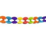 Girlanda Skladaná mašle farebná papierová 300 x 23,5