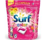 Surf Color Tropical Lily & Ylang Ylang 2v1 kapsule na pranie farebnej bielizne 14 dávok