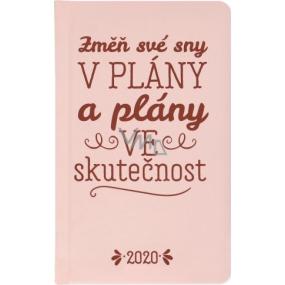 Albi Diár 2020 vreckový týždenný Zmeň svoje sny ... 15,5 x 9,5 x 1,2 cm