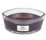 Woodwick Fig - Fík vonná sviečka s dreveným širokým knôtom a viečkom sklo loď 453 g