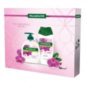 Palmolive Natur Orchid sprchový gél pre ženy 250 ml + tekuté mydlo 300 ml, kozmetická sada
