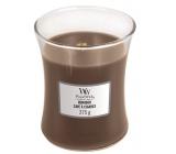 Woodwick Humidor - Puzdro na cigary vonná sviečka s dreveným knôtom a viečkom sklo stredná 275 g