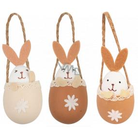 Vajíčko sa zajacom na zavesenie 10 cm 1 kus