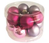 Banky sklenené fialová sada 2,5 cm 12 kusov