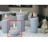 Lima Ice pastel sviečka svetlo modrá plávajúca šošovka 70 x 30 mm 1 kus