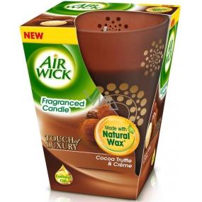 Air Wick Touch of Luxury Cocoa Truffle & Créme Prémiová vonná svíčka 150 g