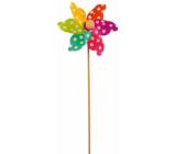 Veterník s farebnými lopatkami a bodkami 9 cm + špajle 1 kus