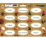 Arch Samolepky na kořenky Juta barvotisk Chilli - orientální koření 0521