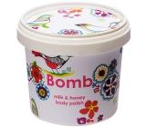 Bomb Cosmetics Mléko a Med - Milk and Honey Přírodní sprchový pelling 365ml