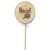 Bohemia Gifts & Cosmetics Drevený zápich k bylinkám s potlačou - Petržlen priemer kolieska je 5 - 8 cm