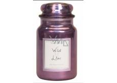 Village Candle Divoký orgován - Wild Lilac vonná sviečka v skle 2 knôty 602 g