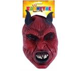 Maska čert s rohmi dospelá