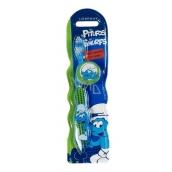 Disney Šmolko mäkkú kefku na zuby s krytkou pre deti