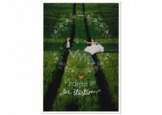 Albi Hracie prianie do obálky K svadbe Novomanželia beží na lúke Láska na 100 let Lucie Vondráčková 14,8 x 21 cm