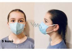 Crdlight Respirátor FFP2 tvárová maska pre deti svetlo modrá 5 kusov