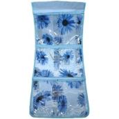 Kapsář do koupelny závěsný 700 modrý 25 x 58 cm