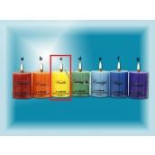 Lima Čakra Vanilka vonná svíčka žlutá válec 50 x 65 mm 120 g