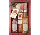 Bohemia Gifts & Cosmetics Wine Spa Vínna kozmetika Hroznový olej a extrakt z vínnej révy sprchový gél 200 ml + šampón na vlasy 200 ml + mydlo 30 g + soľ do kúpeľa v sáčku 150 g, kozmetická sada