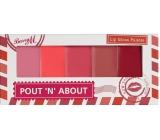 Barry M Pout 'n' O Lip Palette 5 lesků na rty LGP 1