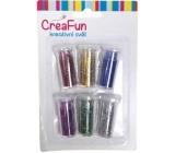 CreaFun Dekorační třpytky sada barevné 6 x 3 g