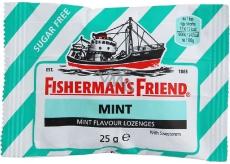 Fishermans Friend Mátové bonbóny dia, nachlazení, kašel zelené 25 g