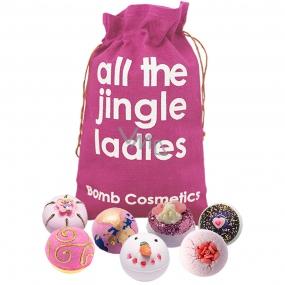 Bomb Cosmetics Moderné princezná - All the Jingle Ladies mix balistiky 7 x 160 g, kozmetická sada