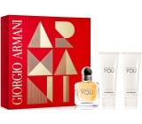 Giorgio Armani Emporio Because Its You parfémovaná voda pro ženy 50 ml + sprchový gel 75 ml + tělové mléko 75 ml, dárková sada