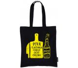 Nekupto Neplastuj Nákupná taška bavlna, Piva, tlačenka, cibuľa, ocot, chleba 38 x 40 x 10 cm