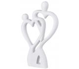 Emóciám Drevená dekorácia srdce pár biela 120 x 20 x 200 mm