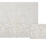 Nekupto Darčekový baliaci papier 70 x 150 cm Béžový s bielymi bodkami