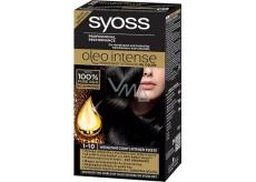Syoss Oleo Intense Color barva na vlasy bez amoniaku 1-10 Intenzivně černý