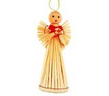 Anděl slaměný figurka 17 cm