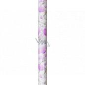 Nekupto Darčekový baliaci papier 70 x 150 cm Fialové kvety 995 40