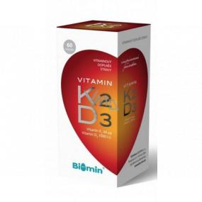 Biomin Vitamín K2 + Vitamín D3 výživový doplnok s obsahom vitamínov 60 kusov